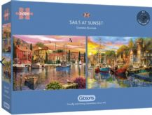 Sails At Sunset - 2 x 500 piece  Jigsaw Puzzles